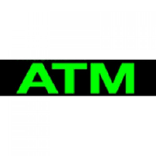 Green Mirroxy ATM Lighted Sign - Single Bulb